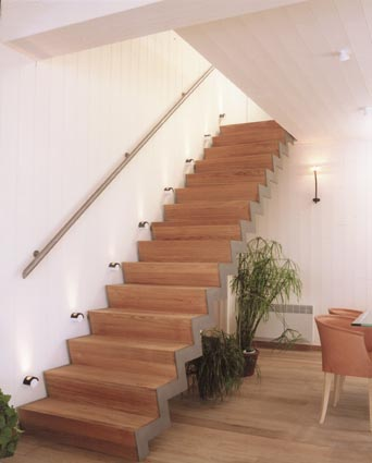 Interieur design - Trap ijzer smeden en hout ...